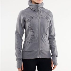 Lululemon Cuddle Up Jacket Heathered Blurred Grey